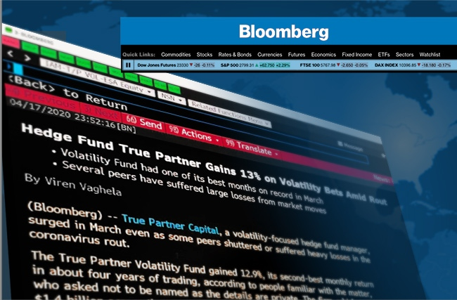 Bloomberg: The True Partner Volatility Fund gained 12.9% - Ralph van Put